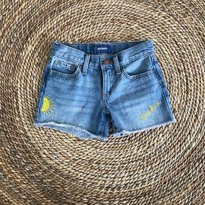 old navy kids sunshine denim shorts (new)